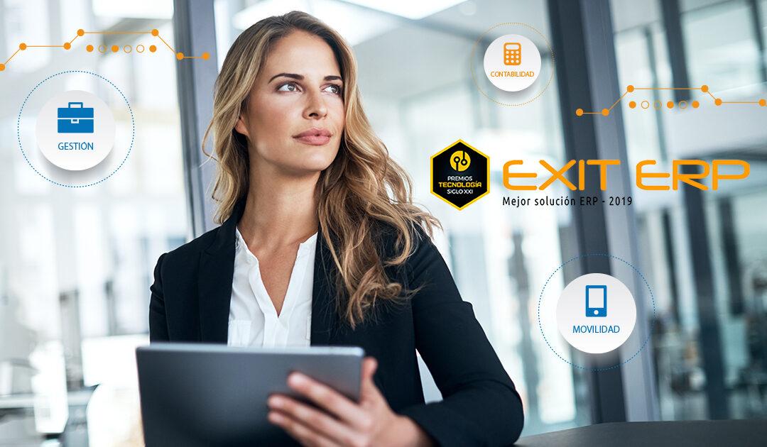 "EXIT ERP galardonado como ""Mejor Solución ERP 2019"""